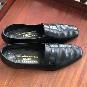 Bally Continental Slip On Black Shoes 8.5